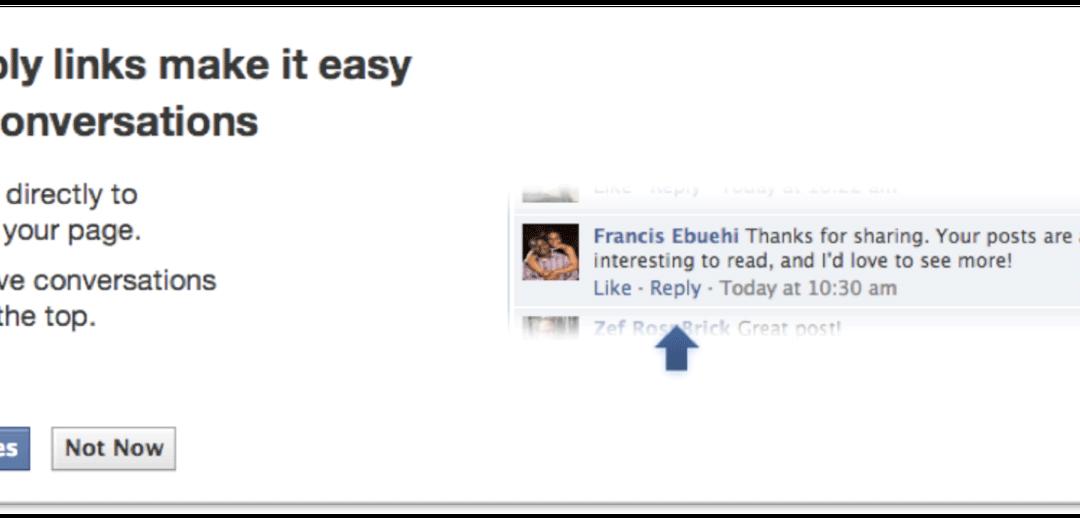 Novità nelle Pagine Facebook
