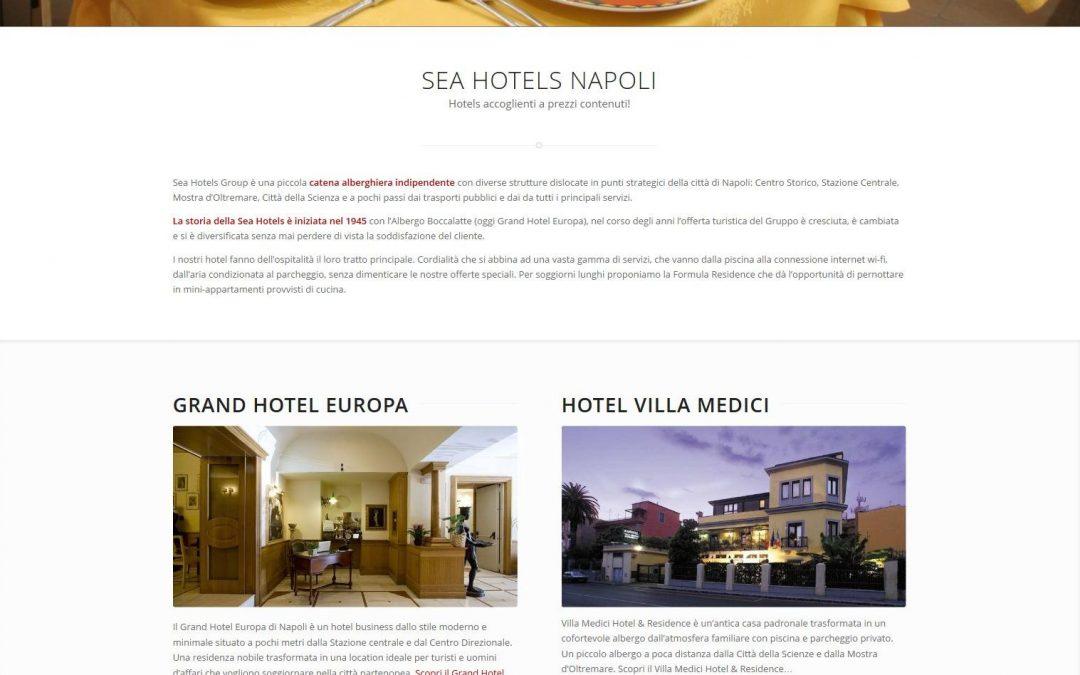 Progetto sito web responsive: Sea Hotels Group Napoli