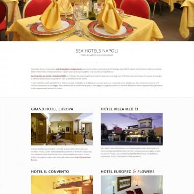 Sea Hotels Napoli Progetto sito web responsive