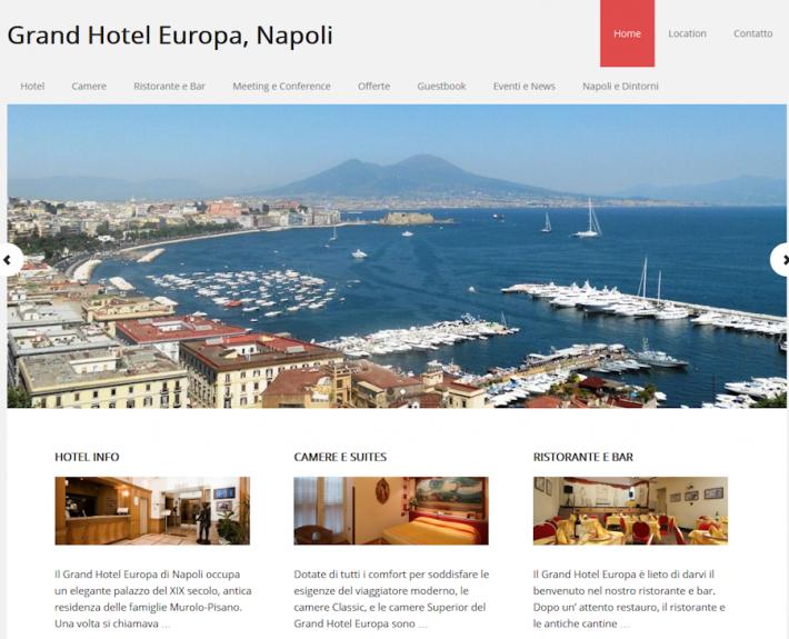 Progetto sito web Grand Hotel Europa Napoli