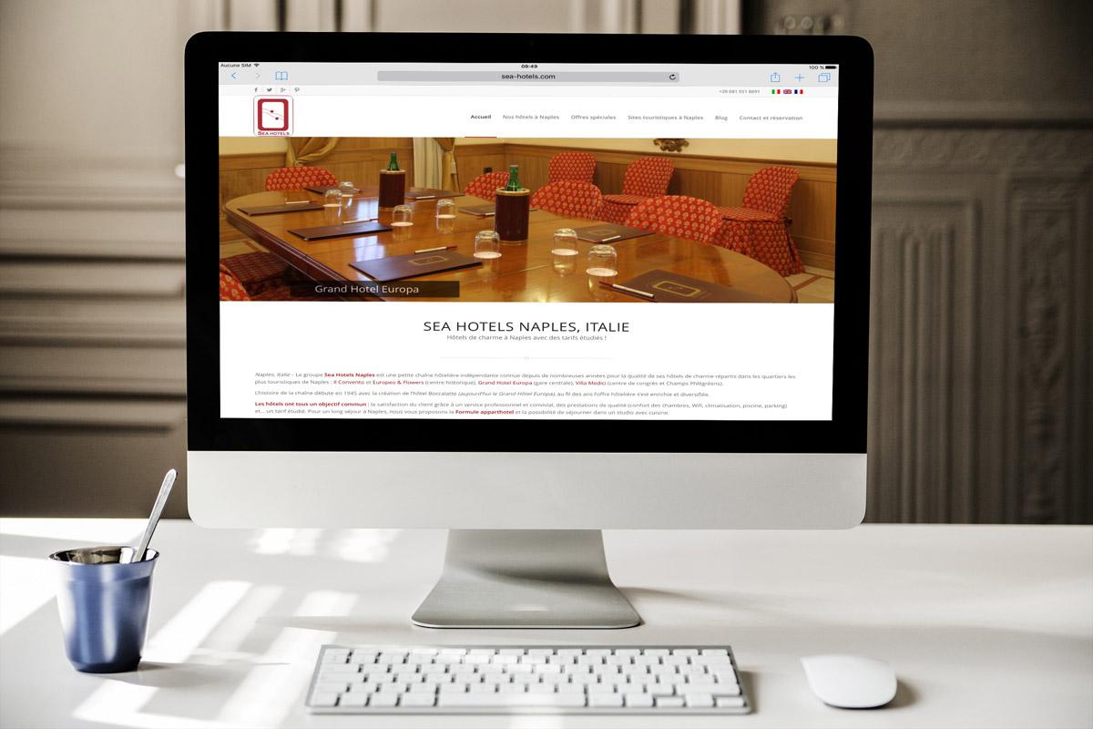 Creazione sito web Sea Hotels Napoli, Italia: Imac Version