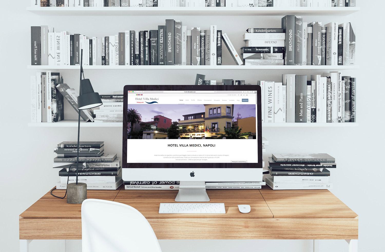 Creazione sito web Hotel Villa Medici Napoli, Italia: Imac Version